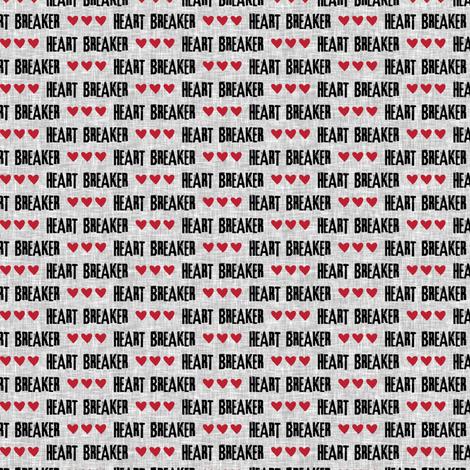 (micro print) heart breaker  fabric by littlearrowdesign on Spoonflower - custom fabric