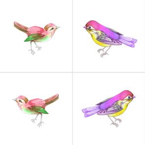 Songbirds, Set C 16 inch CUSHIONS