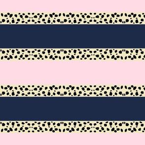 Cheetah Stripes Horizontal- petal navy