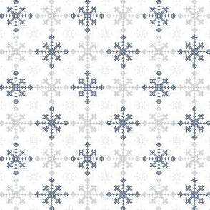 Christmas criss-cross blue
