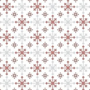 Christmas criss-cross red