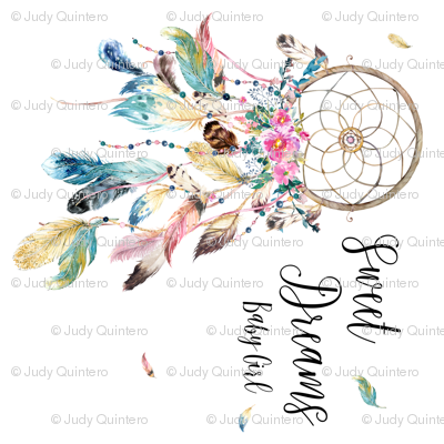 Sweet Dreams Baby Girl / Bohemian Dreams Dream Catcher