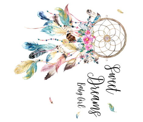 Sweet Dreams Baby Girl / Bohemian Dreams Dream Catcher fabric by shopcabin on Spoonflower - custom fabric