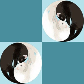 Yin Yang Ferret Checkerboard