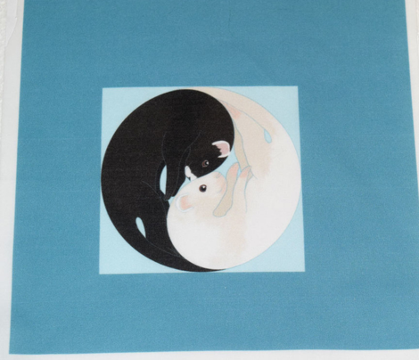 Yin Yang Ferret for Pillow