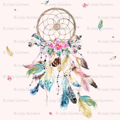 "7"" Bohemian Dreams / Free Falling Florals / PINK"
