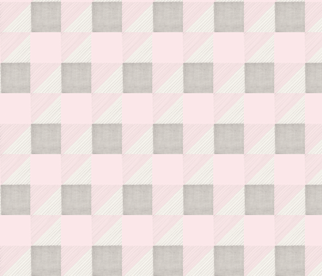 Pink and Gray in Pencil, Squares, Stripes, and Triangles fabric by lilafrances on Spoonflower - custom fabric