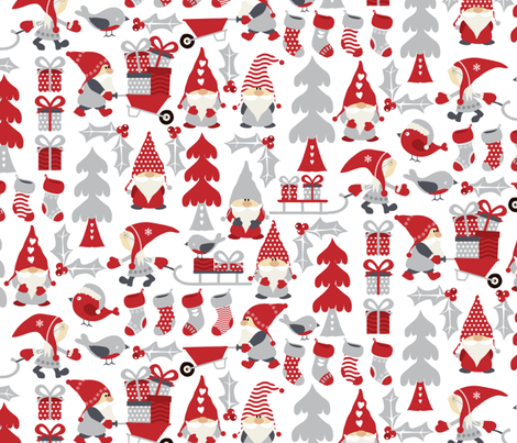 Julenisse  fabric by ebygomm on Spoonflower - custom fabric