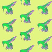 Hummingbird Neon HandDrawn