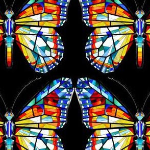 butterfly butterflies insects colorful stained glass