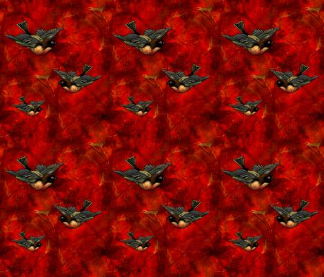 Lava Birds fabric by sherrileeder on Spoonflower - custom fabric