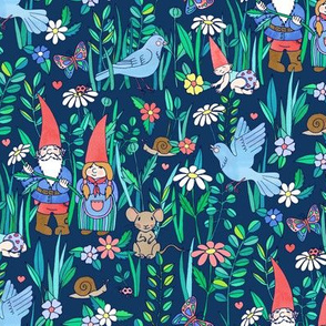 Gnome Family Love - blue version