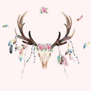 "7"" Bohemian Dreams Skull - Pink"
