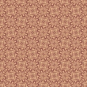 Off Kilter Square Damask (brown)