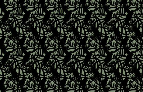 Tui_and_Flax_green fabric by katrina_ward on Spoonflower - custom fabric