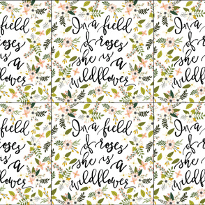 6 loveys: in a field of roses, she is a wildflower // blush sprigs
