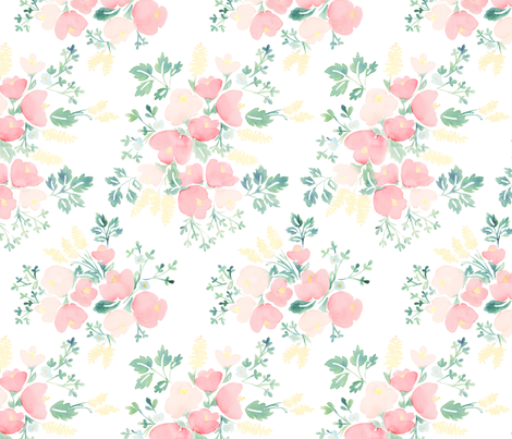 Watercolor Bouquets fabric by writinghomedesigns on Spoonflower - custom fabric