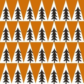 trees // orange and brown fabric nursery baby boy design andrea lauren fabric baby boy