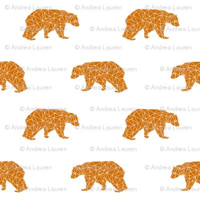 bear // geometric rust orange fabric andrea lauren nursery baby design andrea lauren fabric baby nursery