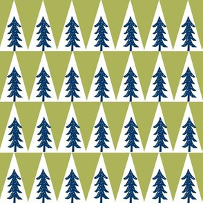 camping trees // lime green and navy tree fabric nursery baby boy design andrea lauren fabric