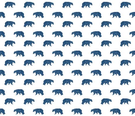 geo bear // navy blue bear fabric nursery bear design baby boy fabric andrea lauren design fabric by andrea_lauren on Spoonflower - custom fabric