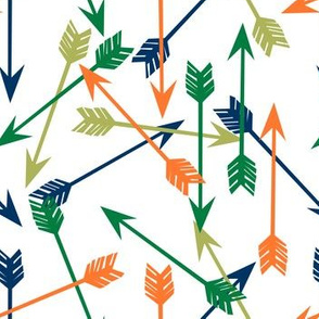 arrow // arrows fabric orange navy green lime arrow fabric nursery baby design andrea lauren fabric baby boy fabric