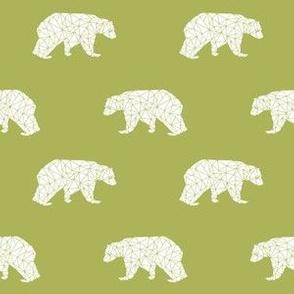 bear // lime green bear fabric andrea lauren design geometric bear fabric nursery lime green design