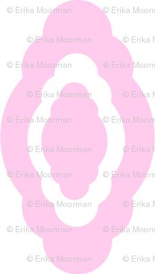 Damask LG- pink white