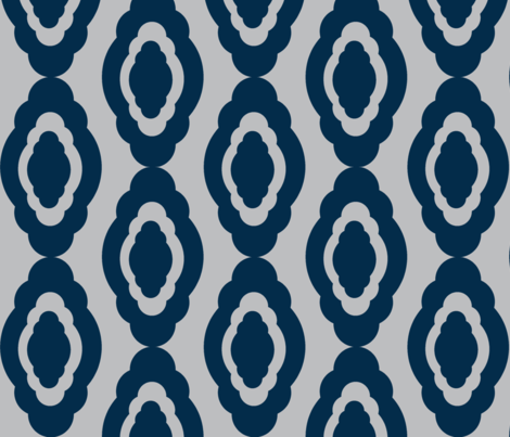 Damask LG- dark navy gray fabric by drapestudio on Spoonflower - custom fabric