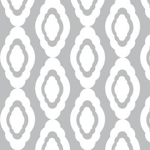 Damask LG- white gray