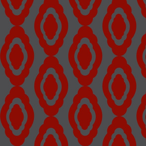 Damask LG- red charcoal