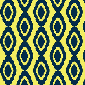 Damask LG-35 dark navy lemon