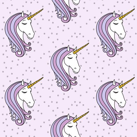 unicorns || purple stars fabric by littlearrowdesign on Spoonflower - custom fabric