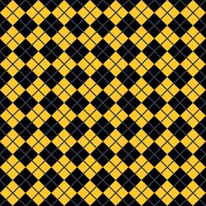 Diamonds and Stripes - Yellow and Black