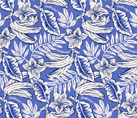Tropical Bananas fabric by newidee on Spoonflower - custom fabric