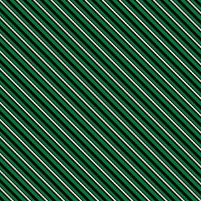 Stripes - Green and Silver