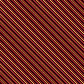 Stripes - Red and Gold