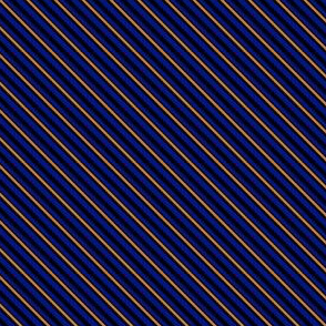 Stripes - Blue and Bronze