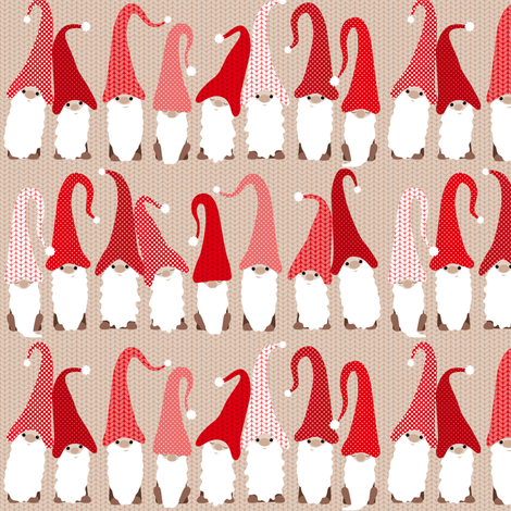 Gnome friends - small fabric by heleenvanbuul on Spoonflower - custom fabric
