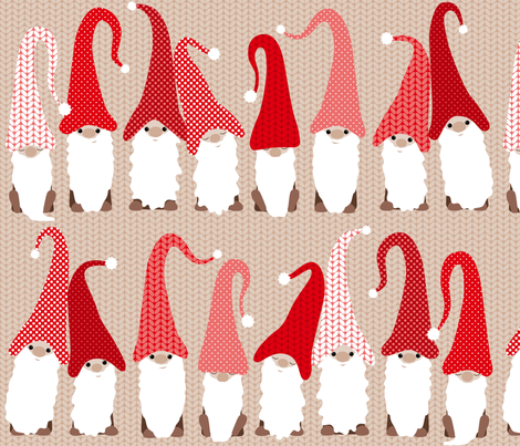 Gnome friends fabric by heleenvanbuul on Spoonflower - custom fabric