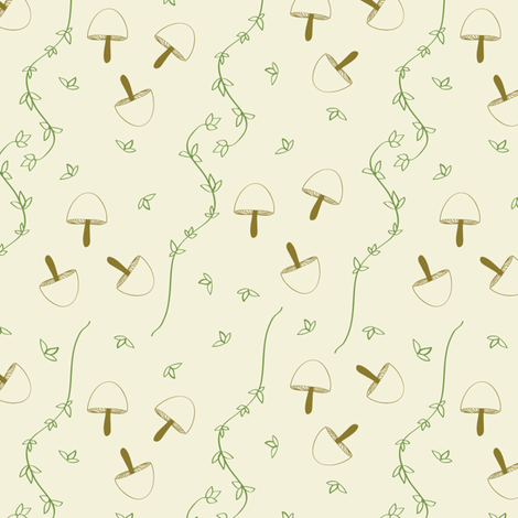 mushrooms and thyme fabric by josyan_mcgregor_designs on Spoonflower - custom fabric