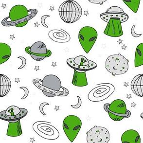 ufos // ufo alien fabric space ship spaceman fabric andrea lauren 90s fabric design