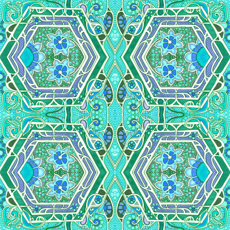 When Aqua Rules the Crayon Box fabric by edsel2084 on Spoonflower - custom fabric