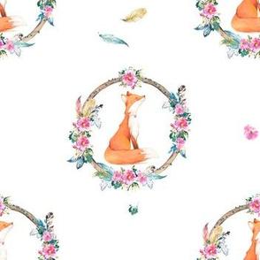 "7"" Bohemian Dreams Floral Fox"