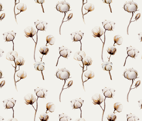 Cotton balls fabric by peace_shop on Spoonflower - custom fabric
