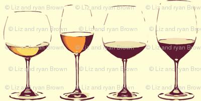 Retro Wine Glasses B