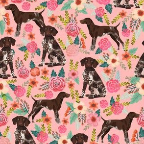 german shorthaired pointer floral pink dogs fabric cute floral design for pointer owners