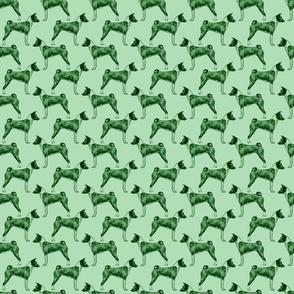 Standing Basenji - small green