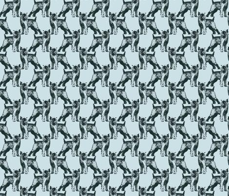 Posing Brussels Griffon - small blue fabric by rusticcorgi on Spoonflower - custom fabric