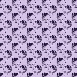 Frolicking Japanese Chin - small purple